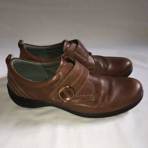 Ecco Leather Loafer Comfort Shoes Brown 9.5